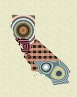 California State Map Fine-Art Print