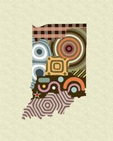 Indiana State Map Fine-Art Print