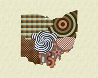 Ohio State Map Fine-Art Print