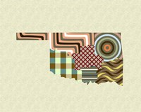 Oklahoma State Map Fine-Art Print