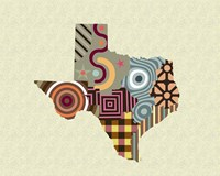 Texas State Map Fine-Art Print