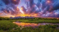 Grand Sunset in the Tetons Fine-Art Print