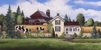 House, Barn & Cows Fine-Art Print
