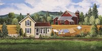 House, Quilt & Red Barn Fine-Art Print