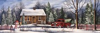Winter Snowman Truck Fine-Art Print
