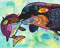 Love as large as a whale Fine-Art Print