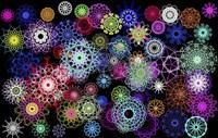 Black And Rainbow Mandala Abstract Fine-Art Print