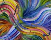 Colorful Rainbow Music Notes Fine-Art Print