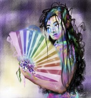 Geisha Woman Fine-Art Print