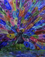 Rainbow Peacock Fine-Art Print