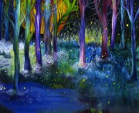 Fireflies Forest Fine-Art Print