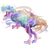 Rainbow Trex 1 Fine-Art Print