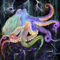 Electric Octopus Fine-Art Print