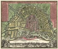 Homann Erben's Accurate Map of Amsterdam 1727 Fine-Art Print
