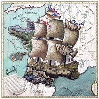 Map Of France As A Ship-1796 Fine-Art Print