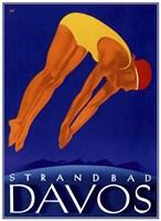 Strandbad Davos Fine-Art Print