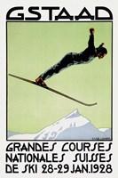 Gstaad Grandes Courses 1928 Fine-Art Print