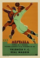 Valencia vs Real Madrid 1931 Fine-Art Print
