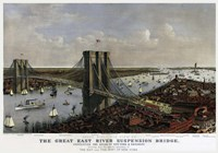 Brooklyn Bridge By Currier and Ives 1885 Fine-Art Print