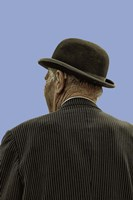 Bowler Hat Man Blue Fine-Art Print