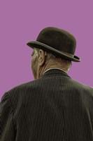 Bowler Hat Man Bodacious Purple Fine-Art Print
