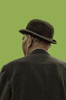 Bowler Hat Man Greenery Fine-Art Print