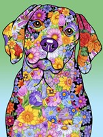 Flowers Beagle Fine-Art Print
