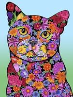 Flowers Black Cat Fine-Art Print