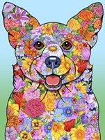Flowers Corgi Fine-Art Print