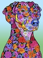 Flowers Doberman Fine-Art Print