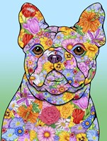 Flowers French Bulldog Fine-Art Print