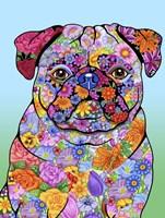 Flowers Pug Fine-Art Print