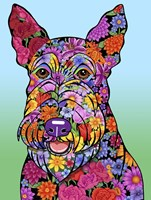Flowers Scottish Terrier Fine-Art Print
