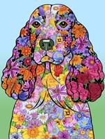 Flowers Springer Spaniel Fine-Art Print