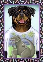 Rottweiler Dinosaur Fine-Art Print