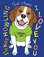 Beagle Graphic Style Fine-Art Print