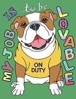Bulldog Graphic Style Fine-Art Print