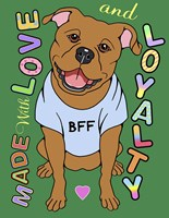 Pitbull Graphic Style Fine-Art Print