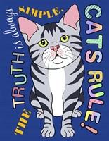 Tabby Cat Graphic Style Fine-Art Print
