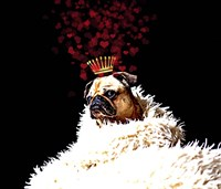 Royal Love Pup - Pug Fine-Art Print