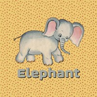 Cute Baby Elephant Fine-Art Print