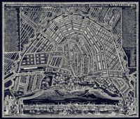 Blueprint Map of Amsterdam 1727 Fine-Art Print