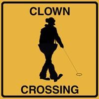 Clown Crossing Fine-Art Print