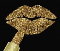 Gold Glitter Lipstick Fine-Art Print