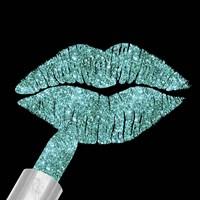 Aqua Glitter Lipstick Fine-Art Print