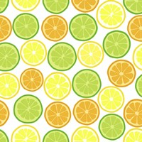 Citrus on White Fine-Art Print