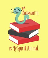 The Bookworm is My Spirit Animal III Fine-Art Print