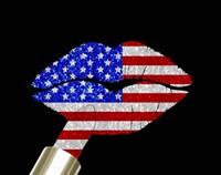 Patriotic Lips I Fine-Art Print