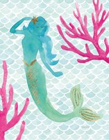 Mermaid Friends II Fine-Art Print
