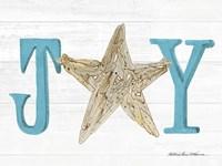 Coastal Holiday Ornament X Joy Fine-Art Print